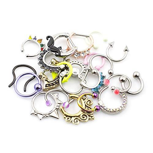 Pack of 10 Septum Jewelry Randomly Picked