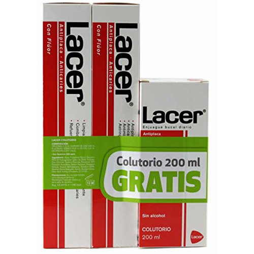 Lacer Duplo Pasta Dentífrica Antiplaca-Anticaries - 325 ml