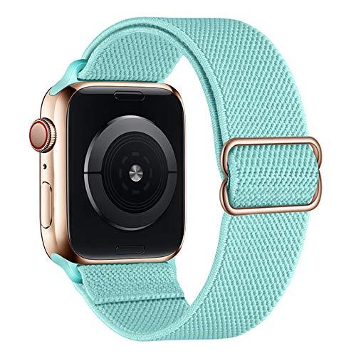 amBand Sport Solo Loop Band Compatible con la correa Apple™ Watch 38mm 40mm 42mm 44mm, elástico ajustable trenzado sutil Correa de reemplazo de nylon compatible con la serie iWatch 6/5/4/3/2/1 SE