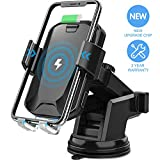 Wireless Car Charger, CHGeek 10W Qi Fast Charging Auto Clamping Car Mount Windshield Dashboard Air Vent Phone...