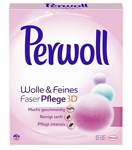 Perwoll Wolle & Feines FaserPflege 3D Pulver, 2er Pack (2 x 6 Waschladungen)