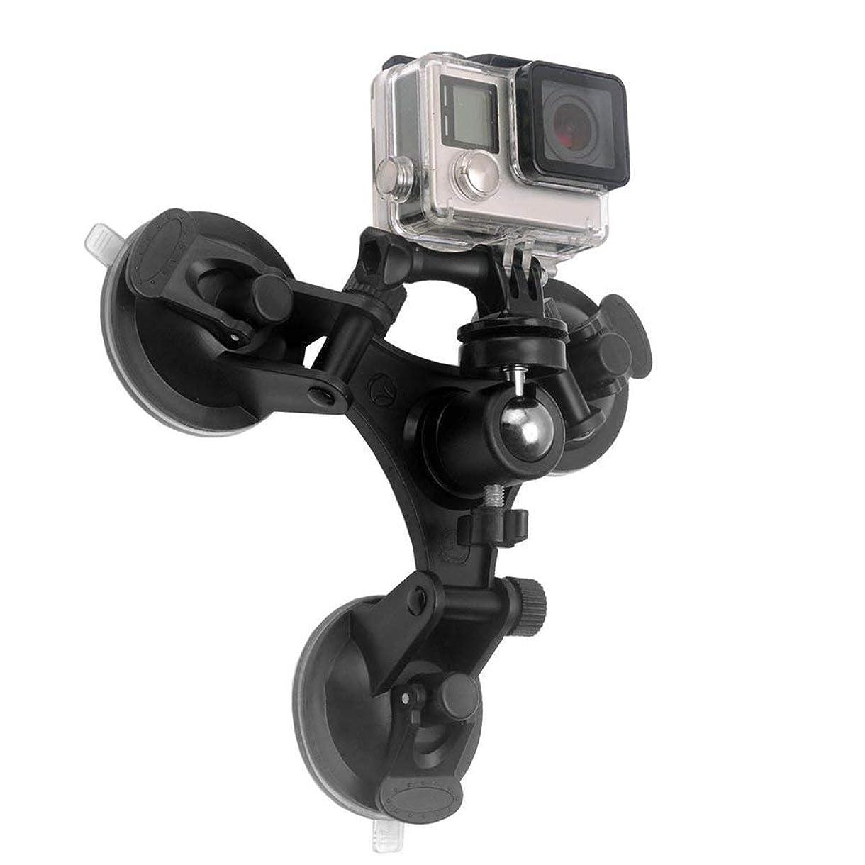 提供利益雪だるまを作るローアングルトライアングルサクションマウントホルダー三脚ボールヘッドスポーツカメラ,GoPro Hero 用 低角度 カメラ 吸盤マウント 1/4ネジ ヘッド付き