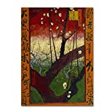 Flowering Plum Tree After Hiroshige by Van Gogh, 18x24-Inch Canvas Wall Art