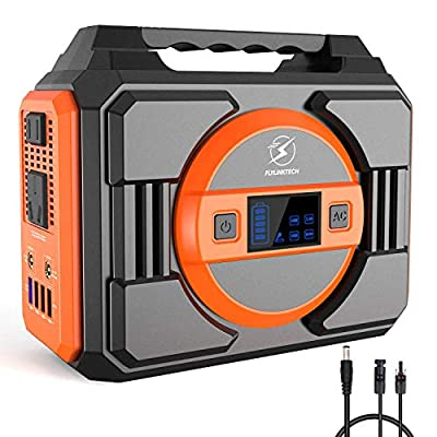 300W Portable Power Staion,FLYLINKTECH 75000mAh 277.5Wh Solar Generator for CPAP Outdoor Advanture Camping, Emergency Backup Lithium Battery Power Supply with 2 AC Outlets 2 DC 4 USB Ports 1 MC4 Cable