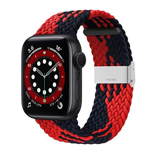 Compatible con Apple Watch iWatch bandas para hombres y mujeres, correas elásticas elásticas ajustables para iWatch Series 6/SE/5/4/3/2/1 con hebillas
