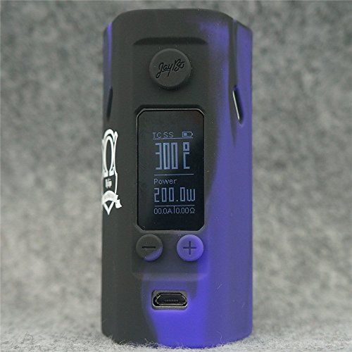 Silicone Case for Wismec Reuleaux RX200S MOD SHIELD ByJojo Skin RX 200 S Sleeve Cover Wrap (Purple/Black)