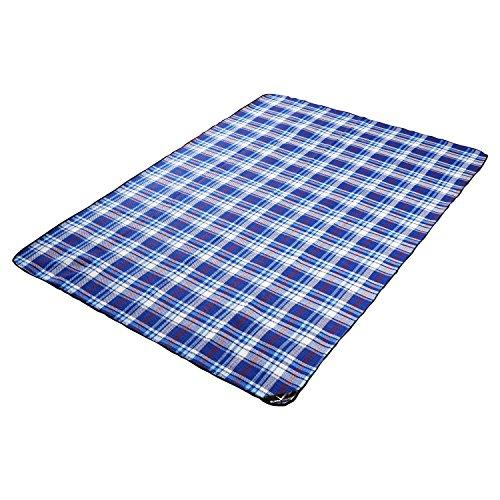 Black Crevice Picknick Decke, Blau, 190 x 135 cm