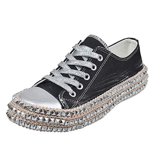 Read About Milamy Women Leopard Print Canvas Shoes Lace-Up Low Top Sneaker Lace-up Non Slip Shoes Cl...