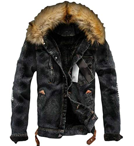 H&m Black Denim Jacket Mens
