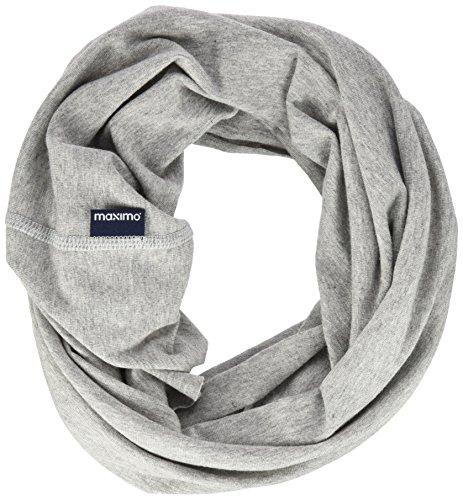maximo Unisex Multifunktionstuch, einfarbig Halstuch, Grau (Graumeliert 5), 2