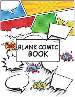 Blank Comic Book: blank comic book for kids create your own comics