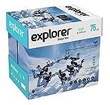 EXPLORER - Papel blanco multiusos para impresora - A4 75gr - 5 paquetes - 2500 folios