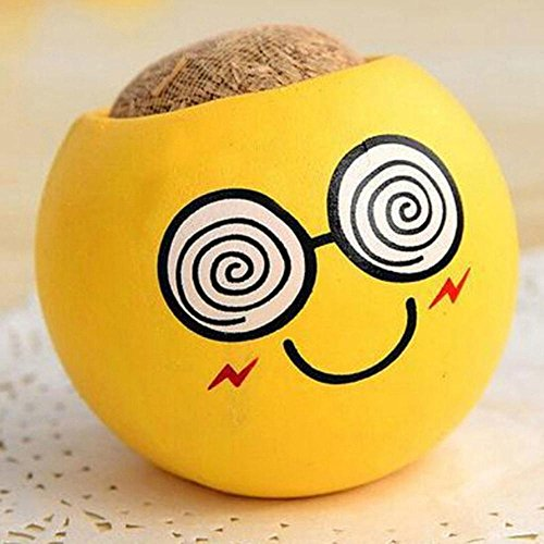 Céramique Emoji Cartoon Imprimer Flower Pot avec Magic Herbe Plante en pot Herbe Graine New Style