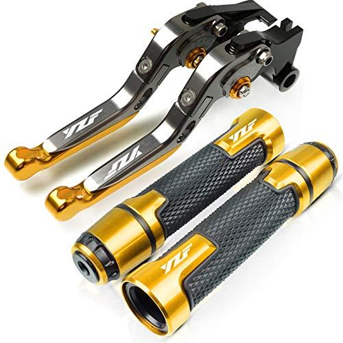 Motorrad Roller Lenker Griffe Für Yamaha YZF R6 1999-2004 2000 2001 2001 2002 2003 Motorradzubehör YZFR6 Bremskupplungshebel Lenker Griff Handgriffe (Farbe : TMAX500 3)