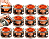 Chafing Dish Fuel Cans - Food Warming Wick Candle Burners for Buffet Dishes (12, 4 HOUR)