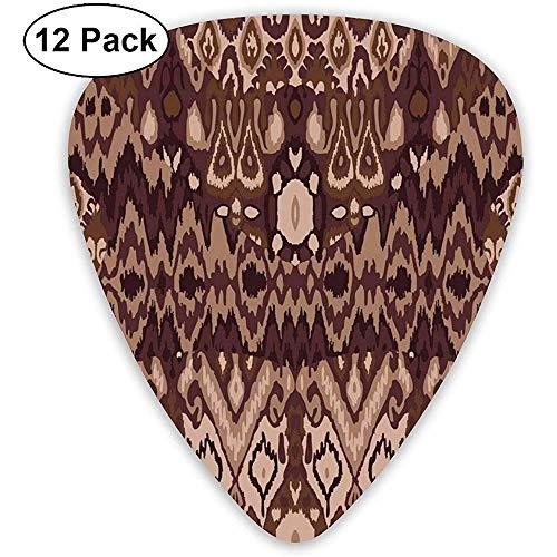 Guitar Pick Classic Picks 12er-Pack für Gitarren und Bässe Ethnic Tribal Carpet Plaid Pattern Fabric Wrapping