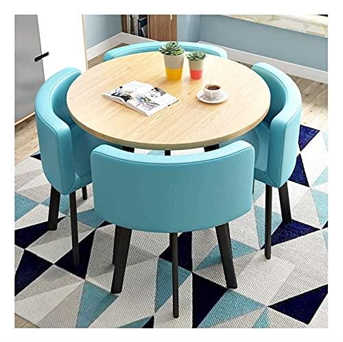 Juego de mesa de comedor para comedor y cocina, mesas y sillas minimalistas modernas para el hogar, sala de estar, cocina, mesa redonda, sillón de salón de lino de algodón vintage, mesa y silla de com