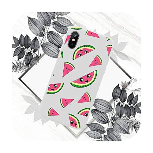 Verano fruta sandía teléfono caso color caramelo para iPhone 11 12 mini pro XS MAX 8 7 6 6S Plus X SE 2020 XR-a7-iPhoneX o XS