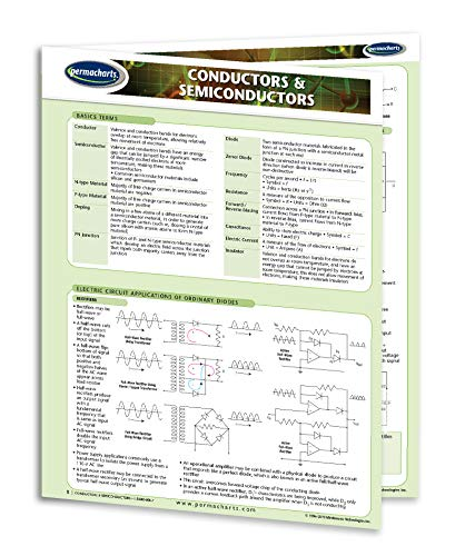 Conductors & Semiconductors Guide - Electrical Engineering Quick Reference Guide by Permacharts