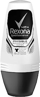 REXONA MEN MotionSense INVISIBLE BLACK + WHITE 48h ANTI-PERSPIRANT ROLL ON 50 ml