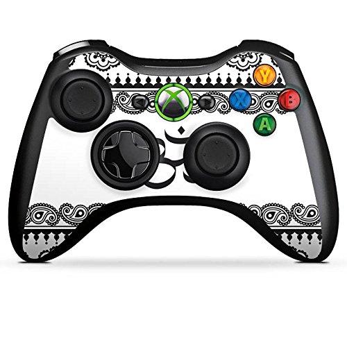 DeinDesign Skin kompatibel mit Microsoft Xbox 360 Controller Folie Sticker Mandala Henna Yoga