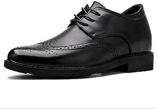 WMZQW Zapatos con Alzas Hombre 4.5cm - Zapatos Oxfords para Hombres con Cuero Interior Elevado para Aumentar la Altura