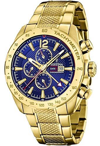 Festina Herren Chronograph Quarz Uhr mit Edelstahl Armband F20441/2