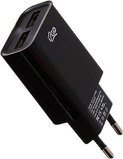 Tomada USB 2, i2GO, Entrada 100V-240V 50/60Hz 0. 15ª, Saída 5V – 2, 1 amp, Preto