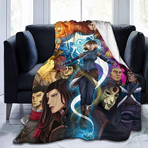 'N/A' Manta de franela con estampado en 3D, de The Legend of Korra, de NICE Avatar The Last Legend Airbender, cálida, cálida, cálida, cálida, para el hogar, la cama, el sofá.