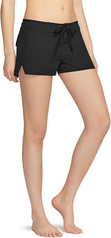 TSLA Women's Quick Dry Swim Shorts, Athletic Water Beach Board Short, Bathing Swimsuit Tankini Bottoms