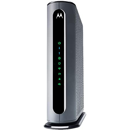 Approved by Comcast Xfinity Charter Spectrum 686 Mbps Maximum DOCSIS 3.0 MOT0ROLA MG7540 16x4 Cable Modem Plus AC1600 Dual Band Wi-Fi Gigabit Router with DFS More Cox Renewed
