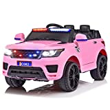 Power Wheels for Kids ,2 Seater Power Wheel car with Parent Remote ,LED Lights, Horn,Music,12V Kids Ride On Truck Toys Best for Kids (Pink)