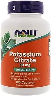NOW Supplements, Potassium Citrate, 180 Count