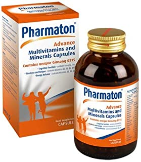 3 Packs x Pharmaton Advance Multivitamin and Mineral Capsules, 100 Capsules