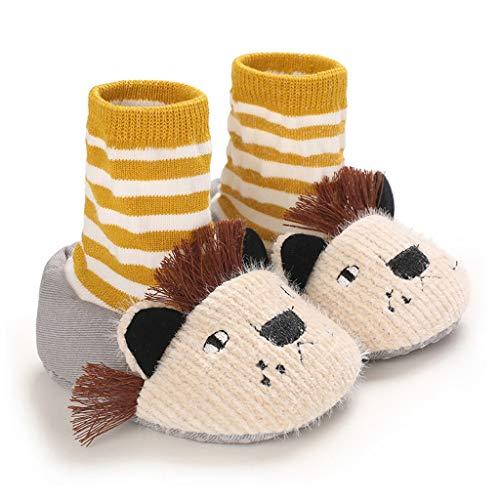 WZHZJ Zapatos de bebé Unisex Primeros Zapatos Andadores de bebé Niño Primer Andador Bebé niña Niños Zapato de bebé de Suela Suave Botines de Punto Antideslizantes (Color : Gray, Size : 7-12 Months)