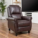 Christopher Knight Home Evan Pansy Recliner Club Chair, 35.5 inches deep x 28.00 inches wide x 40.50 inches high, Burgundy Brown