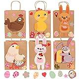 Herefun 6PCS Sacchetti per Regali Fai da Te per Pasqua, Coniglietti Pasquali Fai da Te per Pasqua da Riempire a Piacere per Bambini e Adulti