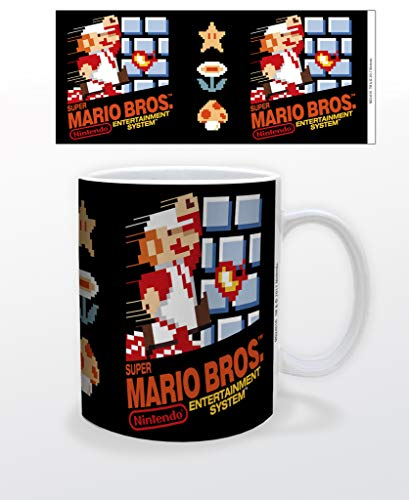 Super Mario Bros NES Box Art Retro Vintage Videospiel Gamer Keramik Kaffeetasse Teetasse lustiges Geschenk 340 ml