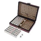 IPOTCH Mini Chinese Mahjong (Mah Jong, Mahjongg, Mah-Jongg, Mah Jongg, Majiang) with Numbered Tiles,...
