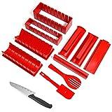 otutun Kit para Hacer Sushi, 11 Piezas Sushi Maker Kit Kit de Sushi Set de Herramientas de Sushi para Hacer en Casa para Sushi DIY También Como Regalo ( Rojo )