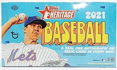 2021 Topps Heritage MLB Baseball HOBBY box (24 pks/bx)