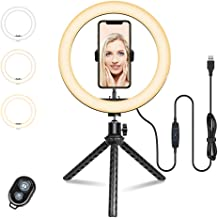 $23 » Ring Light with Tripod Stand - Dimmable Selfie Ring Light LED Lighting Circle with Tripod and Phone Holder for Live Stream...