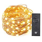 TaoTronics 66ft 200 LED String Lights with RF Remote Control, Valentine's Day Decorations Light…