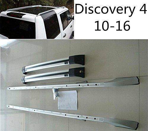 KingAuto Baca de Techo Extensible para Land Rover Discovery 4 LR4 10-16 raíl travesaño