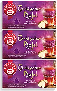 Teekanne Türkischer Apfel 20 Beutel, 3er Pack 3 x 55 g Packung