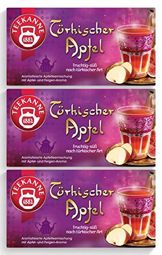 Teekanne Türkischer Apfel 20 Beutel, 3er Pack (3 x 55 g Packung)