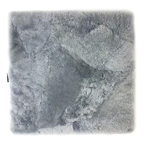 Sitzkissen Lammfell Patch (Rollstuhlauflage Katzenbett) 40x40cm Silber