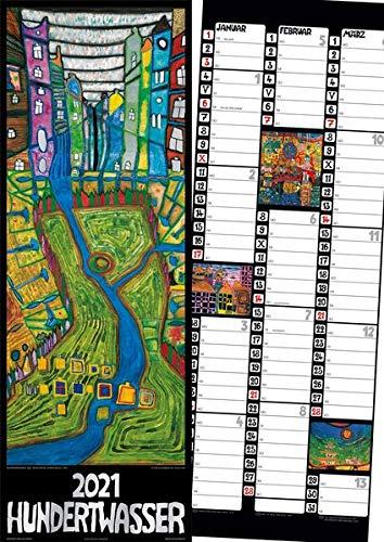 Hundertwasser Streifenkalender Art 2021