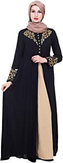 FarJing Muslim Robe for Women, Abaya with Hijab Jilbab Islamic Clothing Burqa Maxi Muslim Dress