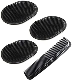 Luxxii (4 Pack) Hair Scalp Massage Shampoo Palm Brush Massager with 5